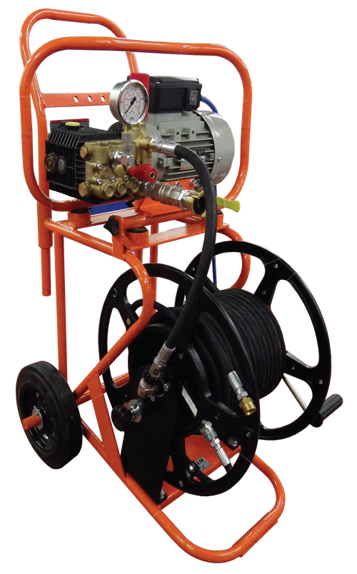 superjet plumbers mate electric trolley water jetting machine